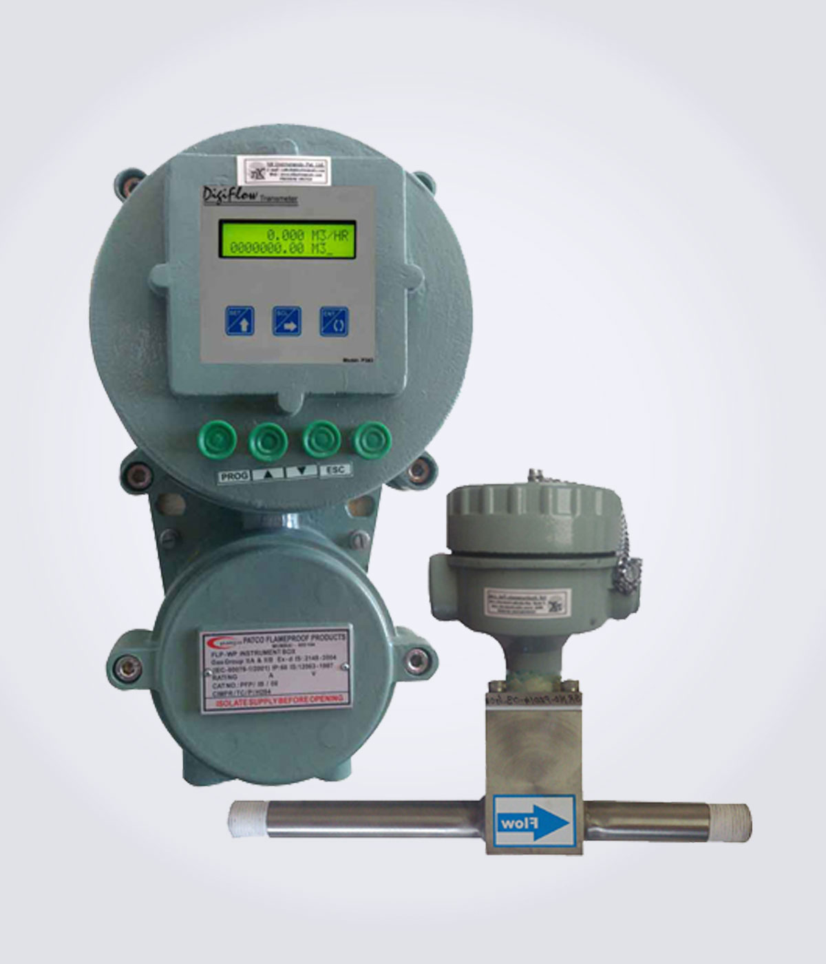 Insertion Paddle type Flameproof Flow Meter
